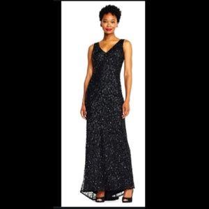 Adrianna Papell Crunchy Beaded Dress